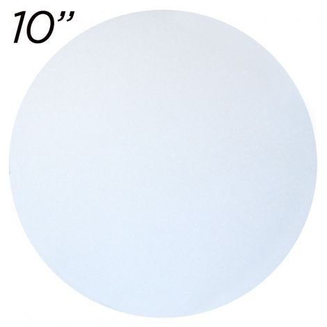 """10"""" White Round Cakeboard, 12 ct. - 2 mm thick"""