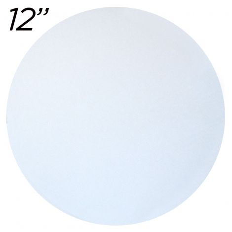 """12"""" White Round Cakeboard, 25 ct. - 2 mm thick"""