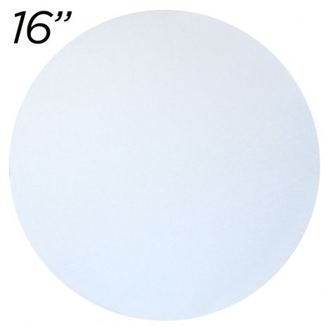 """16"""" White Round Cakeboard, 25 ct. - 2 mm thick"""