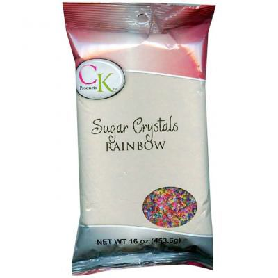 16 Oz Sugar Crystals - Rainbow
