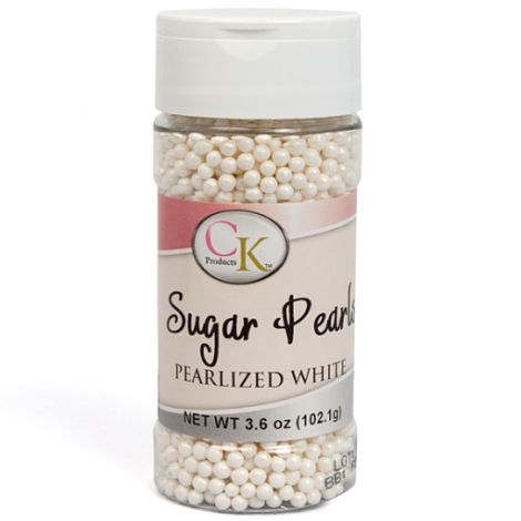 White 3-4mm Sugar Pearls 3.6 OZ