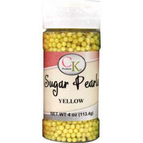 Yellow 3-4mm Sugar Pearls 4 OZ