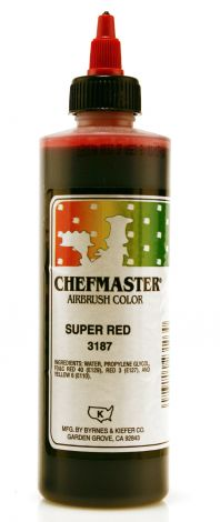 Airbrush Food Color Super Red - 9 oz