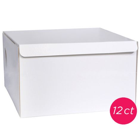 10x10x5 White Cake Box 12 ct