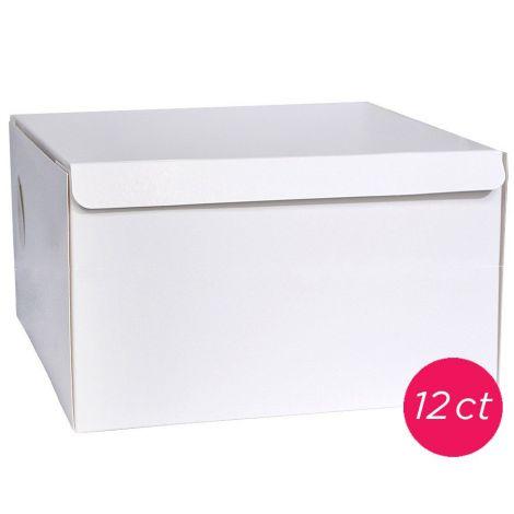 8x8x5 White Cake Box 12 ct