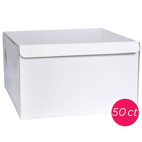 14x14x6 White Cake Box 50 ct