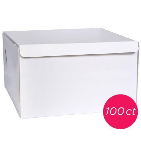 12x12x6 White Cake Box 100 ct