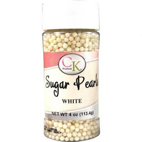 White 3-4mm Sugar Pearls 4 OZ