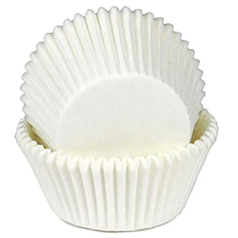 """White Baking Cups 2-3/4 x 1-1/4"""", 500 ct."""