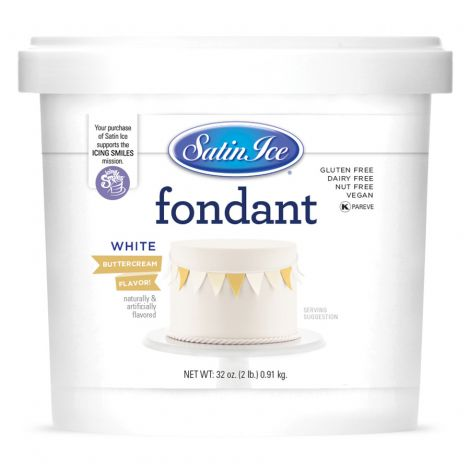 Satin Ice Fondant White Buttercream 2#