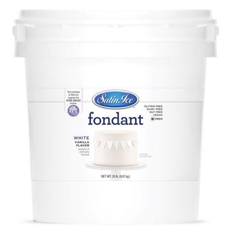 Satin Ice Fondant White 20#