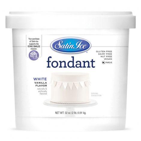 Satin Ice Fondant White Vanilla 2#