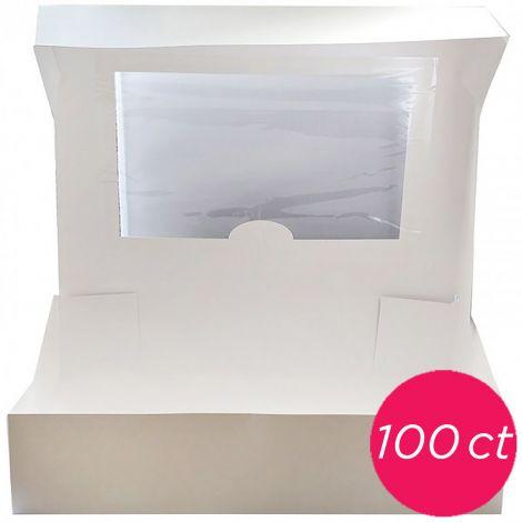 10x10x5 Window White Cake Box 100 ct