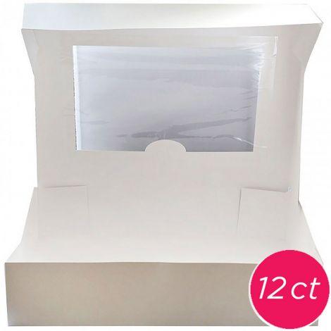 19x14x4 Window Cake Box 12 ct