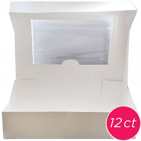 14x10x4 Window Cake Box 12 ct