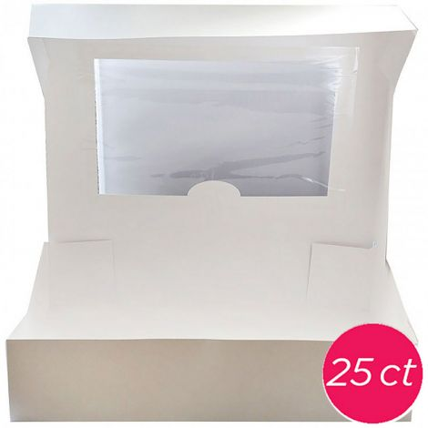 19x14x4 Window Cake Box 25 ct