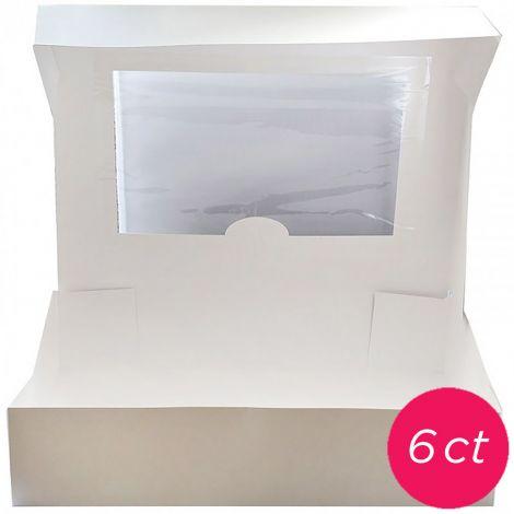 10x10x5 Window White Cake Box 6 ct