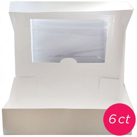 19x14x4 Window Cake Box 6 ct