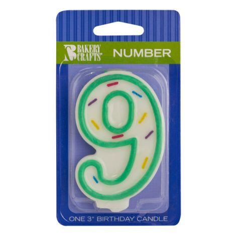 Sprinkle Candles Number 9