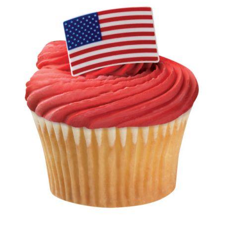 American Flag Cupcake Rings, 12 ct.