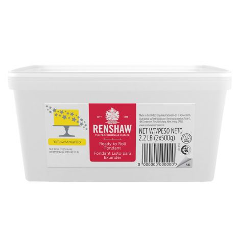 Ready to Roll Fondant Icing Yellow 2.2 lb