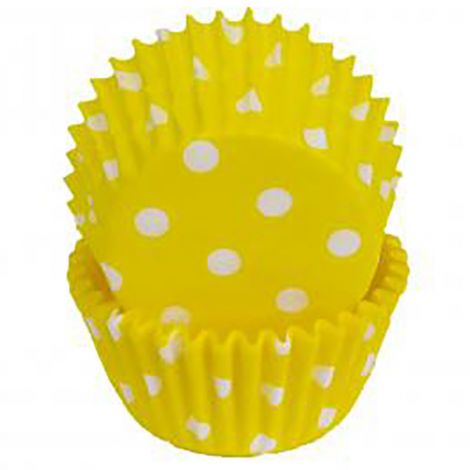 Yellow Polka Dot Baking Cups, 500 ct.