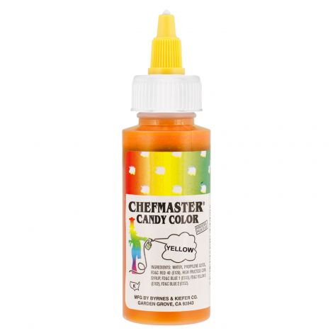 Liquid Candy Color Yellow - 2 oz.