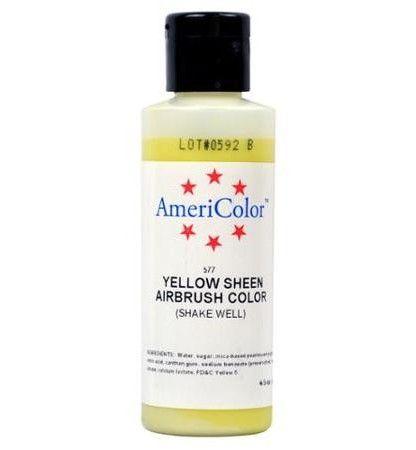 Amerimist Airbrush Color Yellow Metalic Sheen 4.5 oz