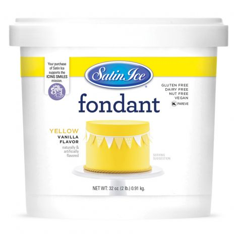 Satin Ice Fondant Yellow 2#