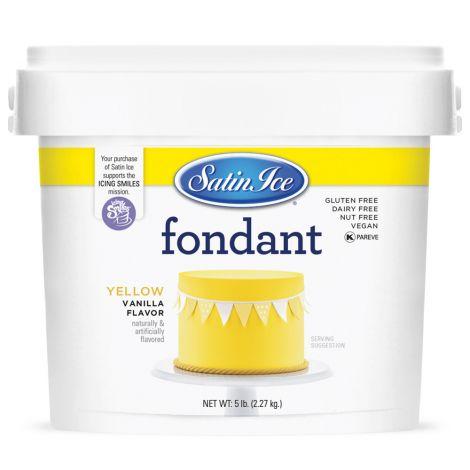 Satin Ice Fondant Yellow 5#