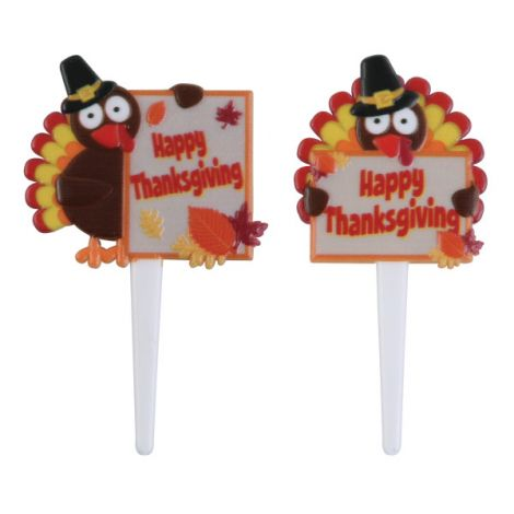 Happy Thanksgiving Turkeys, Cupcake Pics, 12 ct.