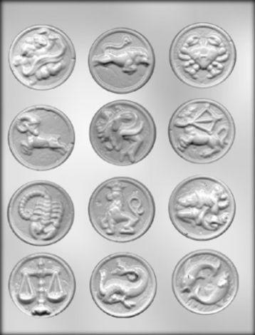 "1-7/8"" Zodiac Mint Choc Mold"