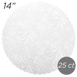 "14"" White Scalloped Edge Cake Boards, 25 ct"