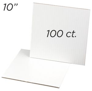 """Cakeboard Square 10"""", 100 ct"""