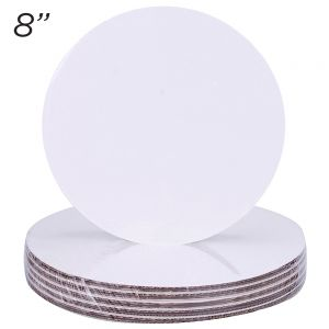 "8"" Round Coated Cakeboard, 6 ct"