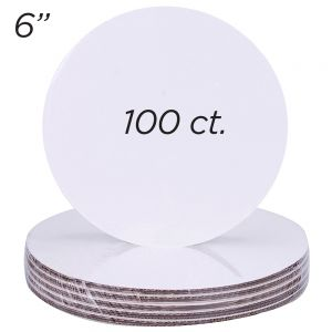 """6"""" Round Coated Cakeboard, 100 ct"""