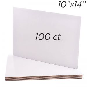 """10""""x14"""" Rectangle Coated Cakeboard, 100 ct"""