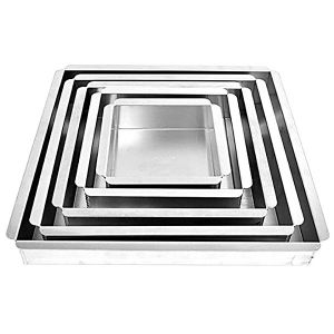 "Square Cake Pan Set 4.5""- 6""-8""-10""-12"""